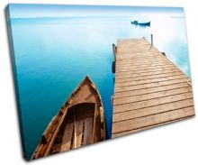 Pier  Lake Blue Sunset Seascape - 13-0180(00B)-SG32-LO